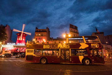 Paris Sightseeing Big Bus 2Hour Night Tour 2018