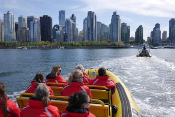 Cruzeiro turístico no Zodiac saindo do Porto de Vancouver
