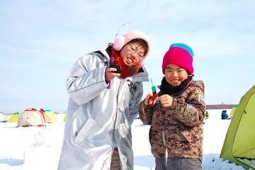 札幌発茨戸川の氷上釣り