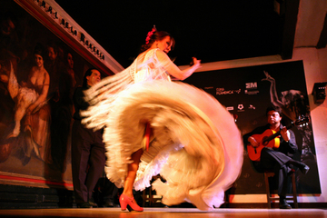 Flamenco-Vorstellung im Corral de la Morería in Madrid