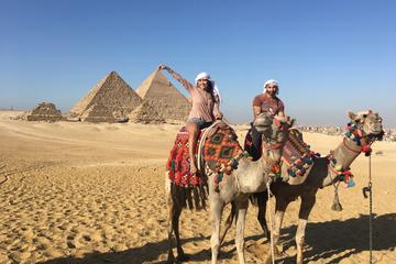 Private Half-Day Trip to Giza Pyramids, Sphinx, Valley Temple with Camel Ride