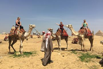 Private Half-Day Trip to Giza Pyramids, Sphinx, Workers Tombs with Camel Ride
