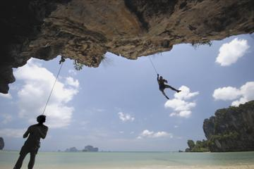 Rock Climbing at Railay Beach from Krabi