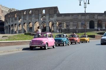 Visite de Rome en convoi de Fiat500 d'époque que vous conduisez...