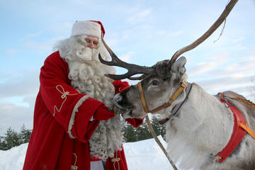 Weihnachtsmanndorf in Lappland von...