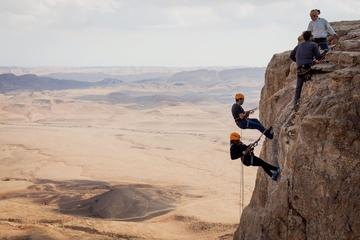 Rappelling Down the Ramon Crater Cliff