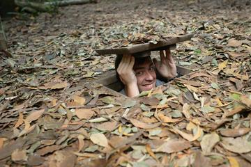 Medio día en los túneles Cu Chi desde la ciudad de Ho Chi Minh en...