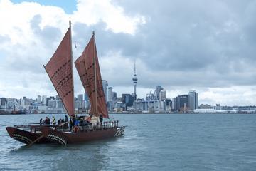 Experiencia cultural maorí: navegación en waka en el puerto Waitemata