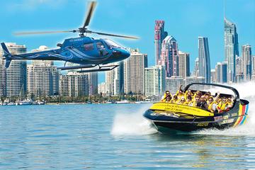 ゴールドコースト発 ジェットボートライドとヘリコプター遊覧飛行