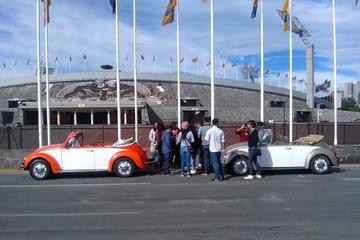 Excursão privada pelo campus da UNAM em fusca conversível ou kombi...