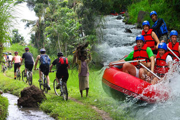 Full-day Bali Rafting and Combination Countryside Cycling Tour