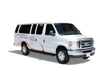 Shared Van Airport Departure Transfer: Universal City Hotels to LAX