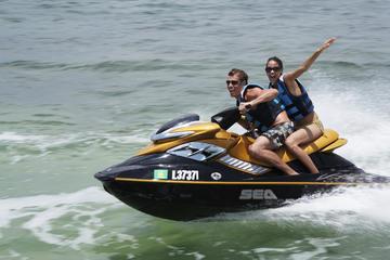 Esperienza guidata su moto d'acqua nella baia di San Antonio a Ibiza
