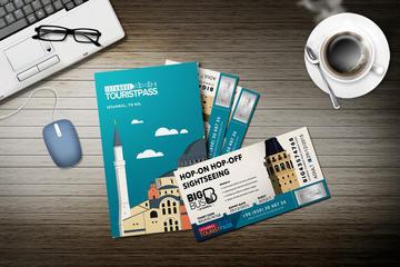 Passe turístico em Istambul com excursão em ônibus conversível