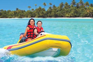 Boottocht waarbij u zelf vaart met snorkelavontuur vanuit Simpson Bay
