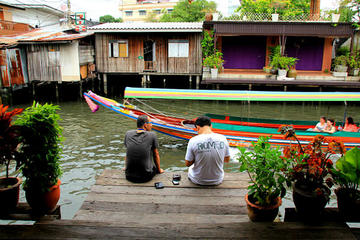 Recorrido por el canal de Bangkok en barco y en bicicleta