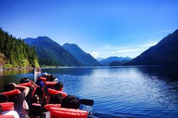 Aventura de canoa atrás dos salmões
