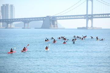 Recorrido en kayak por el río Han de Seúl