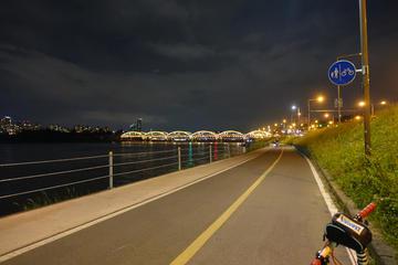 Seoul Han River Night Tour by Bike