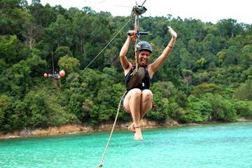 Private Tour: Gaya Island-Wanderung mit Seilrutschen-Abenteuer von...