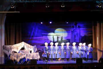 Russiske Kosakker Folk Show i St...