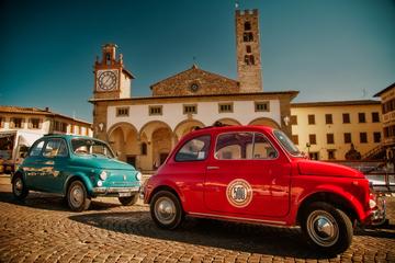 Visite en Fiat 500 d'époque au départ de Florence: villa toscane et...
