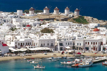 Private Tour: Helicopter Flight over Mykonos and D