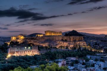 Elektrische Radtour durch Athen bei Nacht