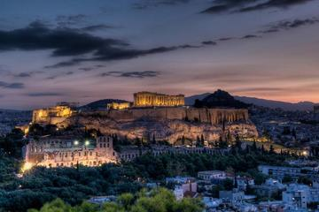 Tour van Athene in de avond met elektrische fiets