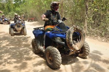 Excursión combinada de Playa del Carmen: quad, tirolina y baño en...