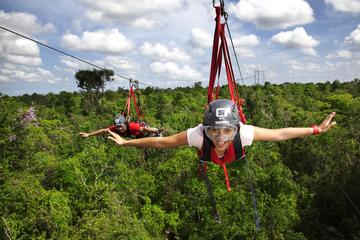 Excursion-aventure à Playa del Carmen au parc Selvatica : descente en...