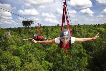Excursion-aventure à Playa del Carmen au parc Selvatica: descente en...