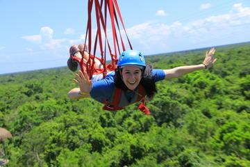 Playa del Carmen Adventure Tour at Selvatica: Zipline, Aerial Bridge, Buggy, Bungee Swing and Cenote Swim
