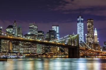 New York di notte: crociera turistica e tour in autobus