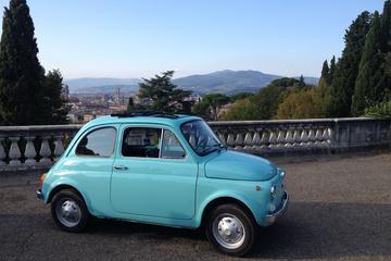 Tour in auto della Toscana da Firenze in una Fiat 500 d'epoca