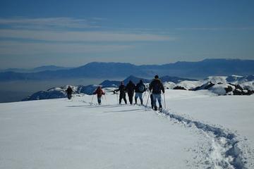 Senderismo con nieve en los Andes desde Santiago