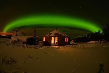 北極の1日: 夕刻のオーロラ鑑賞