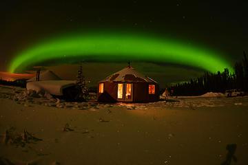 Arktis-Tag: Abendliche Betrachtung der Polarlichter