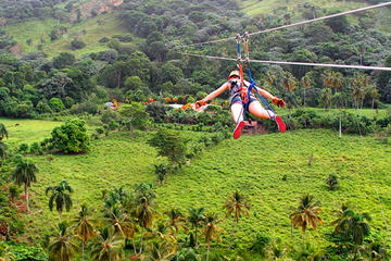 Aventura com Tirolesa e Extreme Swing em Punta Cana
