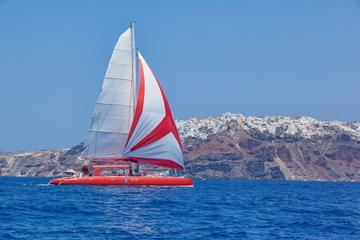Half-Day Ocean Voyager 74 Sailing in Santorini with BBQ and Drinks
