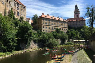 Cesky Krumlov experience: Castle visit - private tour - rafting or kick bike