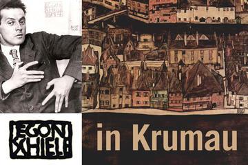 Cesky Krumlov in Egon Schiele's landscapes
