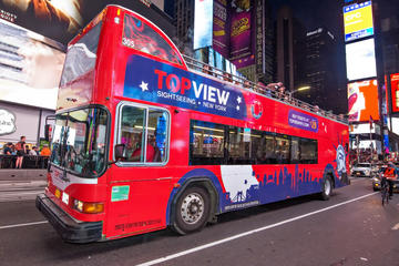 New york at night midtown manhattan double decker bus tour for New york city tours for families