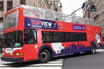 Tour in autobus Hop-On Hop-Off di NYC e crociera alla Statua della