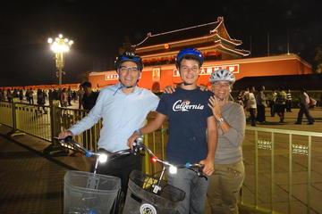 Excursão noturna de bicicleta em Pequim