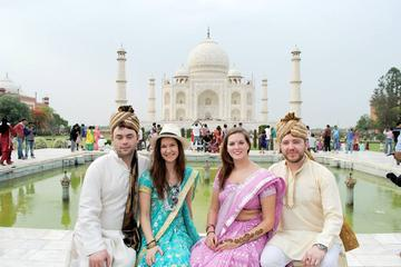 Private Tour: Agra Day Trip from Delhi with Taj Mahal Tour in Authentic Indian Dress