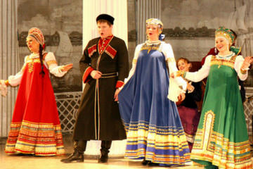 Espectáculo de folclore ruso en el...