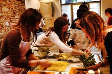 Aula de culinária italiana orgânica...
