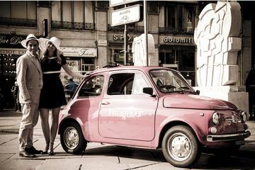 Tour a Milano in una Fiat 500 d'epoca
