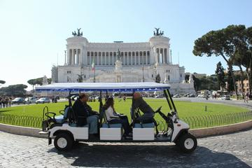Tour privato di Roma in golf cart